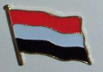 Yemen Country Flag Enamel Pin Badge